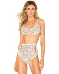 47130747acee For Love & Lemons Loren Cut Out Thong in Blue - Lyst