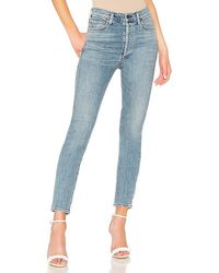 Citizens of Humanity Olivia High Rise Slim Ankle - Blue