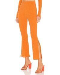 Camila Coelho Linez パンツ - オレンジ