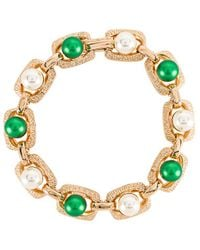 Anton Heunis Links Pearl Bracelet - Green