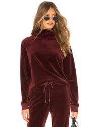 Sanctuary - Velour Cowl Pullover In Wine - Lyst