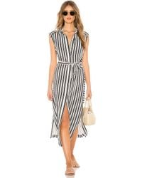 Seafolly - Stripe Long Line Cover Up In White - Lyst