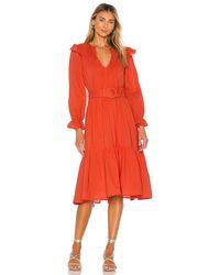 Cleobella Marseilles Midi Dress - Red