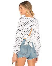 superdown Укороченная Блуза Tie Back В Цвете Белый & Черный