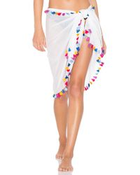 Michael Stars Silky Solid Sarong - White