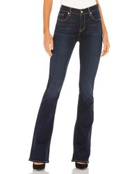 7 For All Mankind High Waisted Ali Flare. Size 24,25,26,30. - Blau