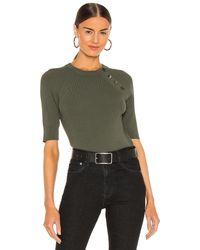 Equipment Desiree Short Sleeve Sweater - Green
