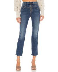 Veronica Beard Ryleigh high rise with front yoke jeans - Azul
