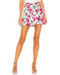 For Love & Lemons Janelle Mini Skirt - Pink