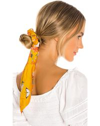 Shashi Kimono Scrunchie В Цвете Желтый - Mustard. Размер All.