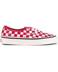 Vans Кроссовки Authentic 44 В Цвете Og Red & Check - Красный