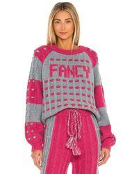 LoveShackFancy Пуловер Ellyn В Цвете Passion Fruit Punch - Розовый