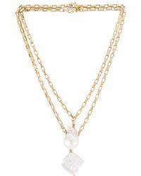 Joolz by Martha Calvo Conjunto de collar pearl - Metálico