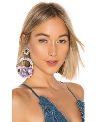 Ranjana Khan - Ayla Earrings In Purple. - Lyst