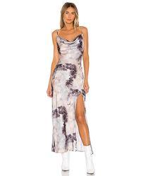 superdown Krystal Slit Maxi Dress - Grey