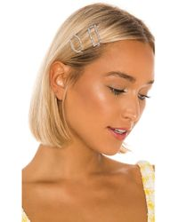 Amber Sceats Rectangle And Oval Hair Clip Set - Metallic