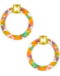 For Love & Lemons Afton Lucite Earrings - Yellow