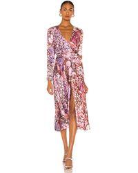 Diane von Furstenberg Платье Миди Tilly В Цвете Marble Ivory & Guaiava - Красный