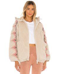 Free People Куртка Lodge Livin В Цвете Natural/pink Combo - Белый