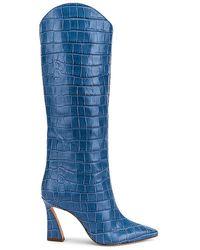 Schutz Maryana Flare Boot - Blue