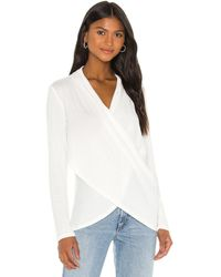 1.STATE - Cross Front Cozy Knit Top - Lyst