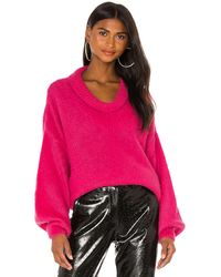 MSGM Пуловер В Цвете Фуксия - Розовый