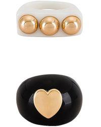 8 Other Reasons Conjunto de anillos studded - Negro