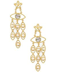 Mercedes Salazar Star Eyes Earrings - Metallic
