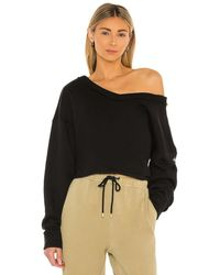 Alo Yoga Prima Off Shoulder Pullover - Schwarz