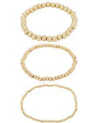 BaubleBar Pisa Bracelet Set Of 3 - Metallic