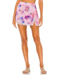 Frankie's Bikinis Boden Lace Skirt - Pink
