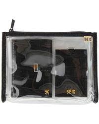 BEIS Passport And Luggage Tag Set - Black