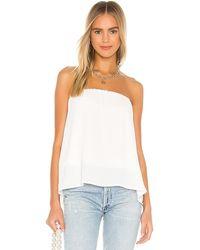 Krisa Split Back Strapless Top - White