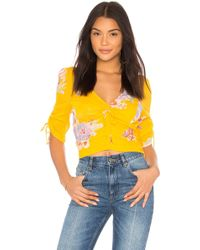 Free People - Love To Love Blouse In Yellow - Lyst
