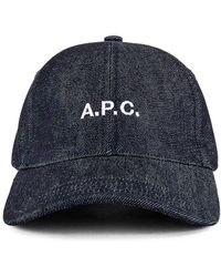 A.P.C. Charlie Baseball Cap - Blau