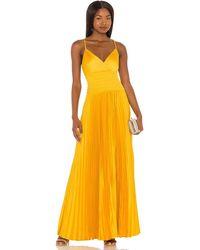 BCBGMAXAZRIA Vestido - Amarillo