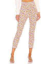 LoveShackFancy Pantalones de corte ajustado brently - Multicolor