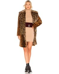 Blank NYC - Patchwork Faux Fur Coat In Brown - Lyst