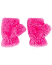 Apparis Ariel Faux Fur Mittens - Pink
