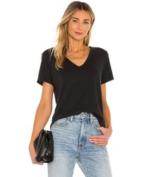 Citizens of Humanity Lilah V Neck Tee - Black
