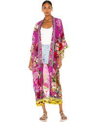 Camilla Kimono Coat - Pink