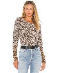 White + Warren Ombre Leopard Sweatshirt - Multicolour