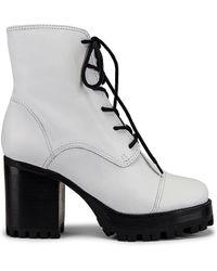 Schutz Lace Up ブーツ - ホワイト
