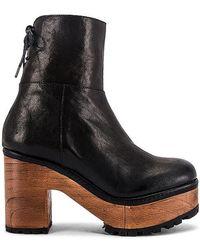 Free People Kenna Platform Clog Boot - Black