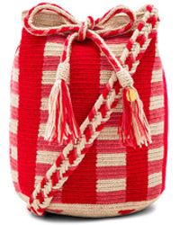 Guanabana - Medium Stripe Bucket Bag In Red. - Lyst