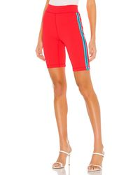 Rag & Bone Lady Side-stripe Bike Shorts - Red