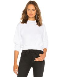 Cotton Citizen Milan bauchfreies Sweatshirt - Weiß