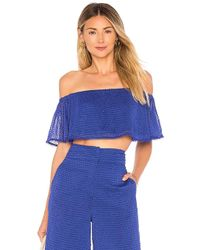 House of Harlow 1960 - X Revolve Bree Crop In Royal - Lyst