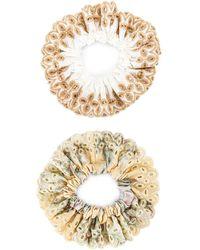 Loeffler Randall Резинка Для Волос Stephanie В Цвете Amber & Muted Clay Gingham - Многоцветный