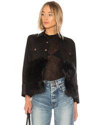 Harvey Faircloth - Denim Jacket With Faux Fur - Lyst